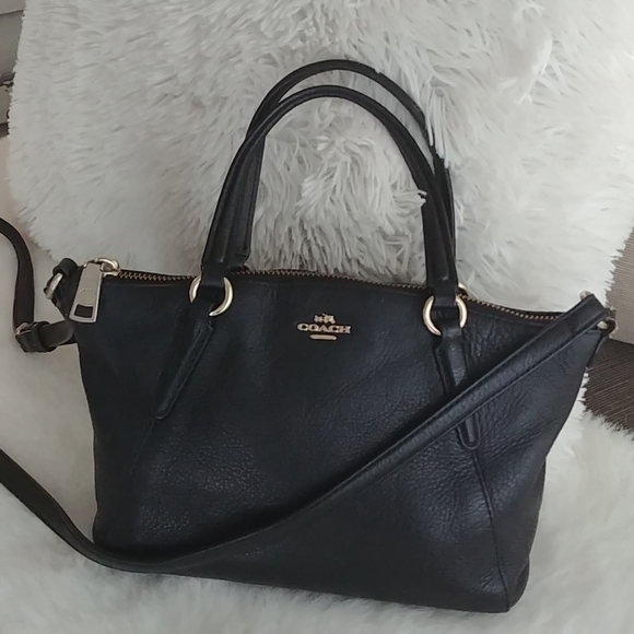 Coach Mini Kelsey black leather crossbody F57563